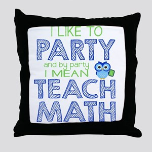 Math Party Throw Pillow